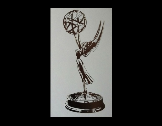 Billy receives emmy award